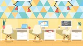 Vector Backgrounds - Mega Bundle - Colorful Modern Office Vector Background Illustration