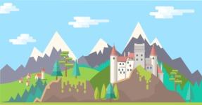 Vector Backgrounds - Mega Bundle - Landscape 16