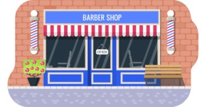 Vector Backgrounds - Mega Bundle - Modern Flat Barber Shop Illustration Vector Background