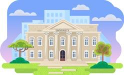 Vector Backgrounds - Mega Bundle - Flat University Illustration Vector Background for Education