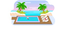 Vector Backgrounds - Mega Bundle - Fancy Swimming Pool Vector Background Illustration