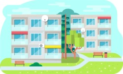 Vector Backgrounds - Mega Bundle - Living Building Vector Background Illustration
