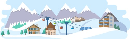 Vector Backgrounds - Mega Bundle - Ski Resort Wide