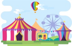 Vector Backgrounds - Mega Bundle - Circus Narrow Landscape
