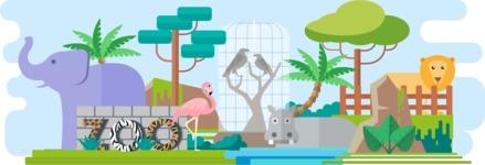 Vector Backgrounds - Mega Bundle - Zoo Wide Landscape