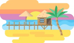 Vector Backgrounds - Mega Bundle - Tropical Island Narrow