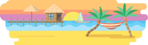 Vector Backgrounds - Mega Bundle - Tropical Island Wide