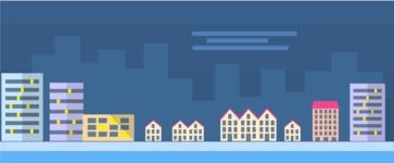 Vector Backgrounds - Mega Bundle - City Night View Part 4