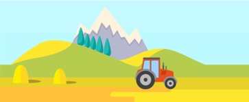 Vector Backgrounds - Mega Bundle - Farm Landscape Part 1