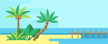 Vector Backgrounds - Mega Bundle - Island Resort Landscape Part 1