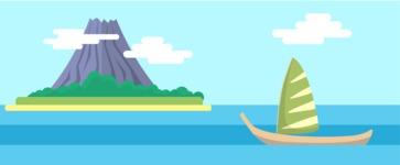 Vector Backgrounds - Mega Bundle - Island Resort Landscape Part 3