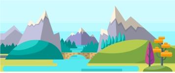 Vector Backgrounds - Mega Bundle - Country Area Part 3