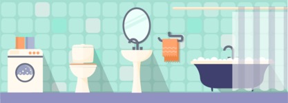 Vector Backgrounds - Mega Bundle - Bathroom