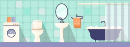 Vector Backgrounds - Mega Bundle - Bathroom