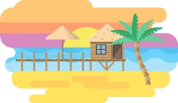 Backgrounds: World of Colors - Tropical Island Narrow