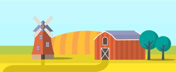 Vector Backgrounds - Mega Bundle - Farm Landscape Part 3