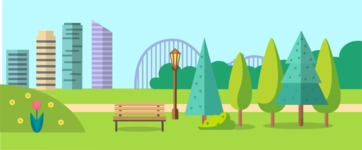 Backgrounds: World of Colors - City Park Landscape Part 4