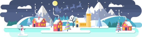 Backgrounds: World of Colors - Christmas Background