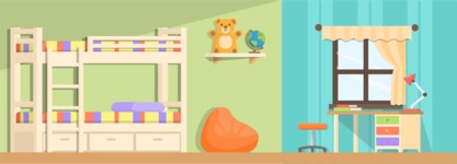 Backgrounds: World of Colors - Children's Room