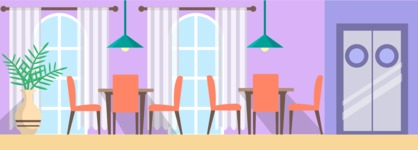 Backgrounds: World of Colors - Restaurant Interior