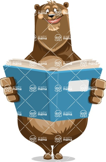 Bear Cartoon Vector Character AKA Barry Bearhug - Book 1