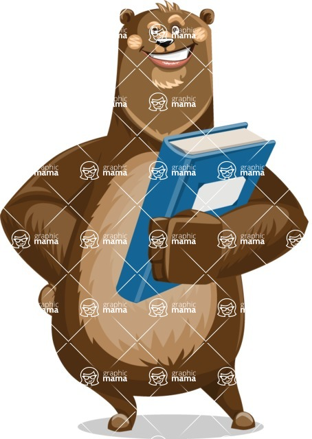 Bear Cartoon Vector Character AKA Barry Bearhug - Book 3