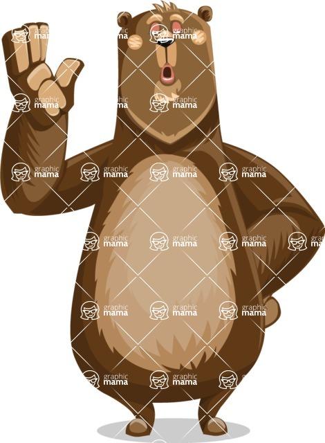 Bear Cartoon Vector Character AKA Barry Bearhug - Bored 2