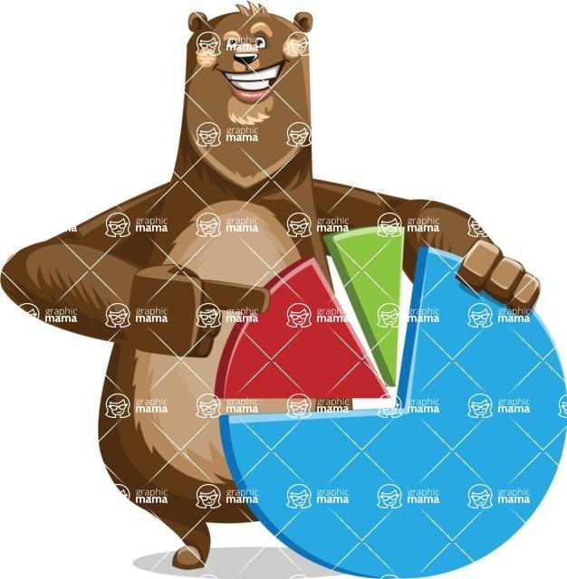 Bear Cartoon Vector Character AKA Barry Bearhug - Chart