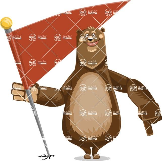 Bear Cartoon Vector Character AKA Barry Bearhug - Checkpoint