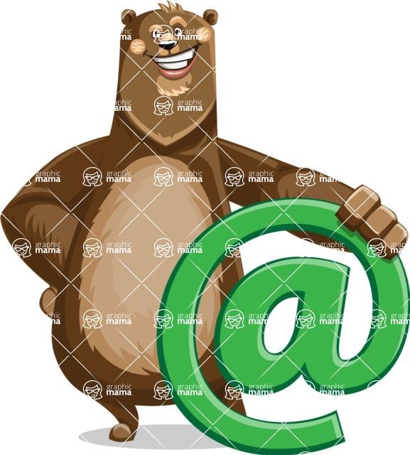 Bear Cartoon Vector Character AKA Barry Bearhug - Email