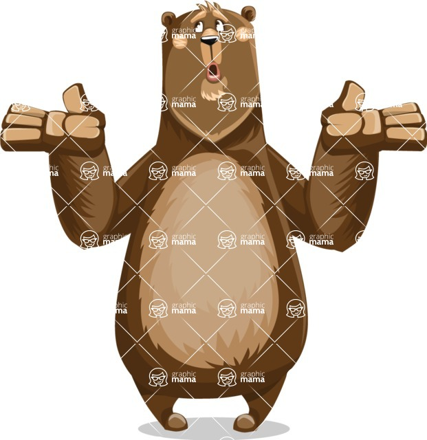 Bear Cartoon Vector Character AKA Barry Bearhug - Lost