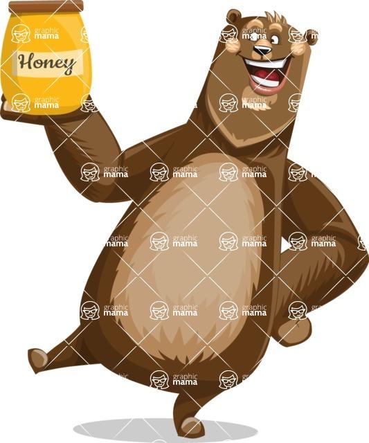 Bear Cartoon Vector Character AKA Barry Bearhug - Meat