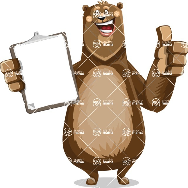 Bear Cartoon Vector Character AKA Barry Bearhug - Notepad 1