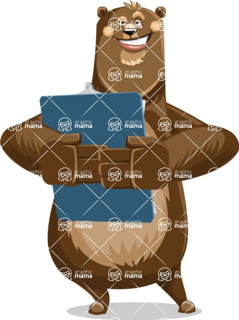 Bear Cartoon Vector Character AKA Barry Bearhug - Notepad 2