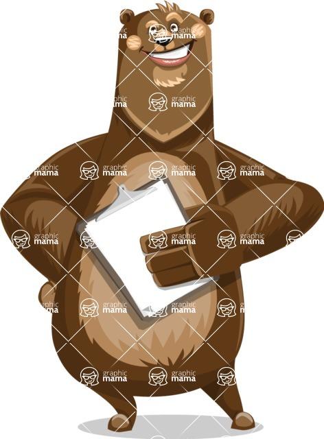 Bear Cartoon Vector Character AKA Barry Bearhug - Notepad 4