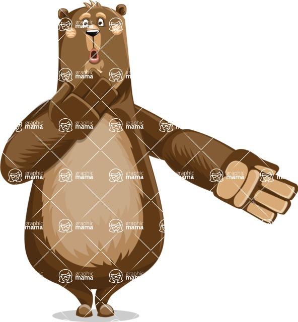 Bear Cartoon Vector Character AKA Barry Bearhug - Oops