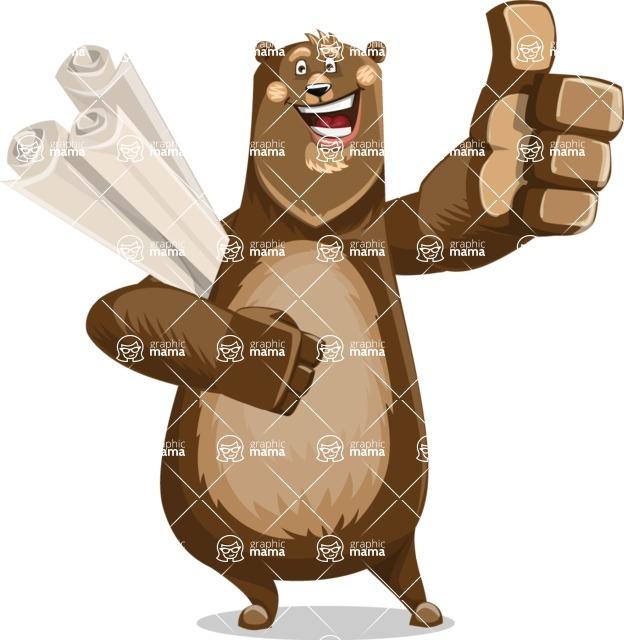 Bear Cartoon Vector Character AKA Barry Bearhug - Plans