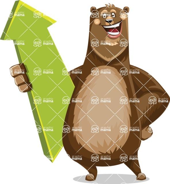 Bear Cartoon Vector Character AKA Barry Bearhug - Pointer 1