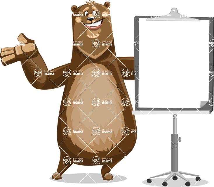 Bear Cartoon Vector Character AKA Barry Bearhug - Presentation 1
