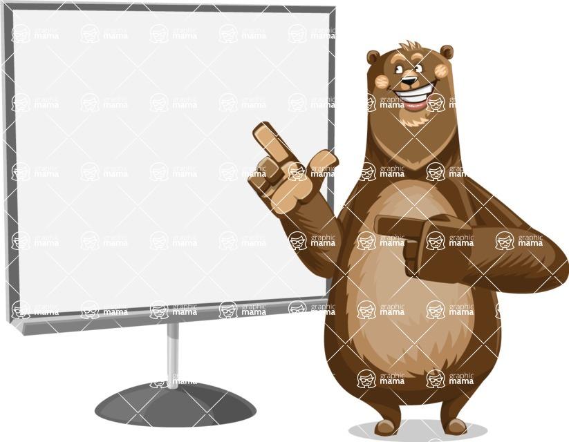 Bear Cartoon Vector Character AKA Barry Bearhug - Presentation 2