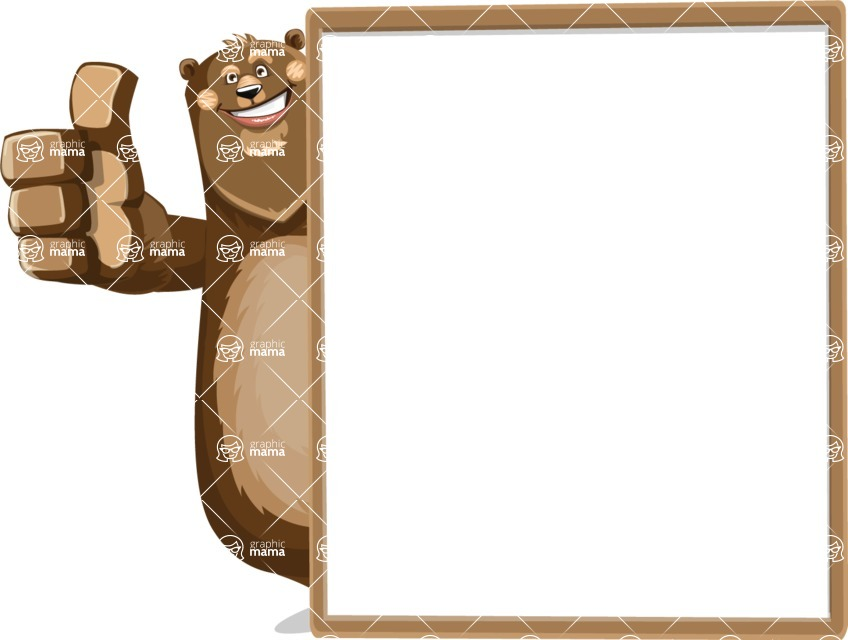 Bear Cartoon Vector Character AKA Barry Bearhug - Presentation 5