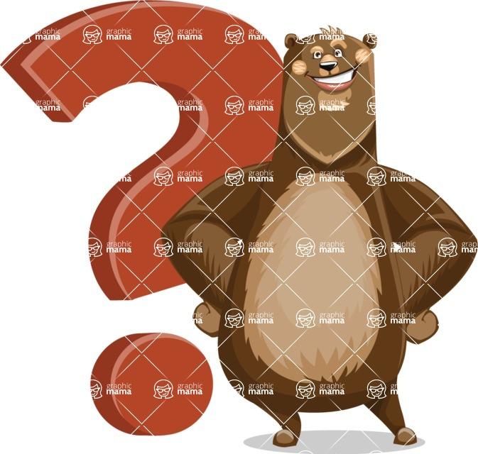 Bear Cartoon Vector Character AKA Barry Bearhug - Question