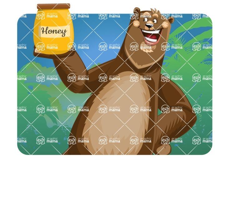 Bear Cartoon Vector Character AKA Barry Bearhug - Shape 1