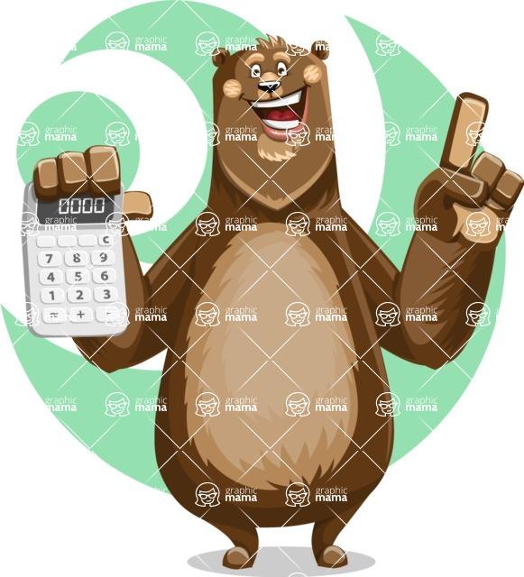 Bear Cartoon Vector Character AKA Barry Bearhug - Shape 7