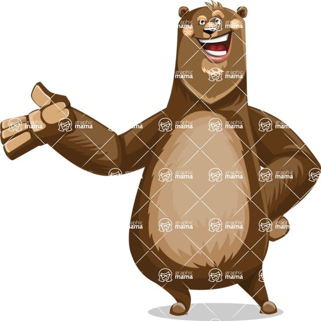 Bear Cartoon Vector Character AKA Barry Bearhug - Showcase 2