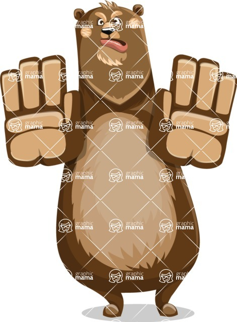 Bear Cartoon Vector Character AKA Barry Bearhug - Stop 2