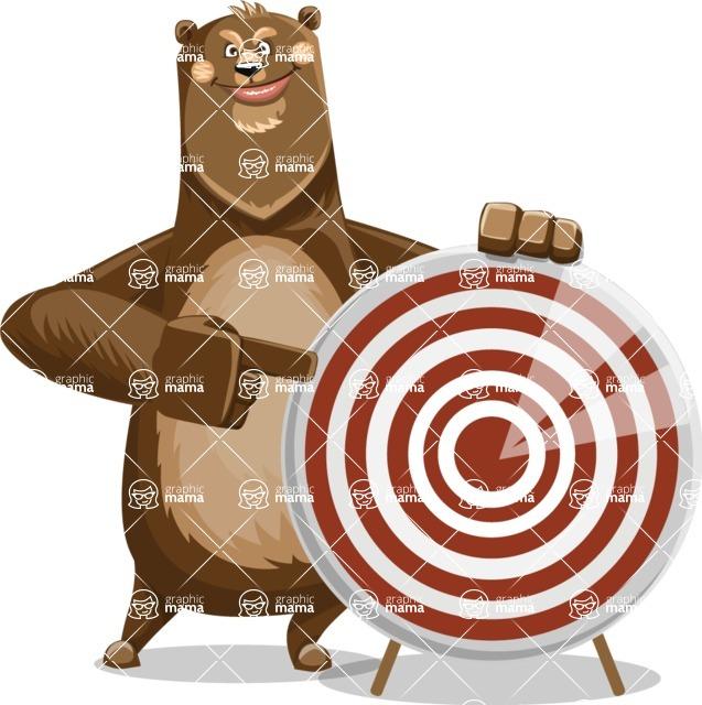 Bear Cartoon Vector Character AKA Barry Bearhug - Target