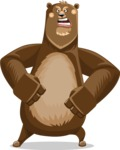 Bear Cartoon Vector Character AKA Barry Bearhug - Angry