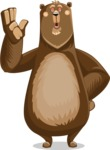 Bear Cartoon Vector Character AKA Barry Bearhug - Bored 2