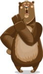 Bear Cartoon Vector Character AKA Barry Bearhug - Bored